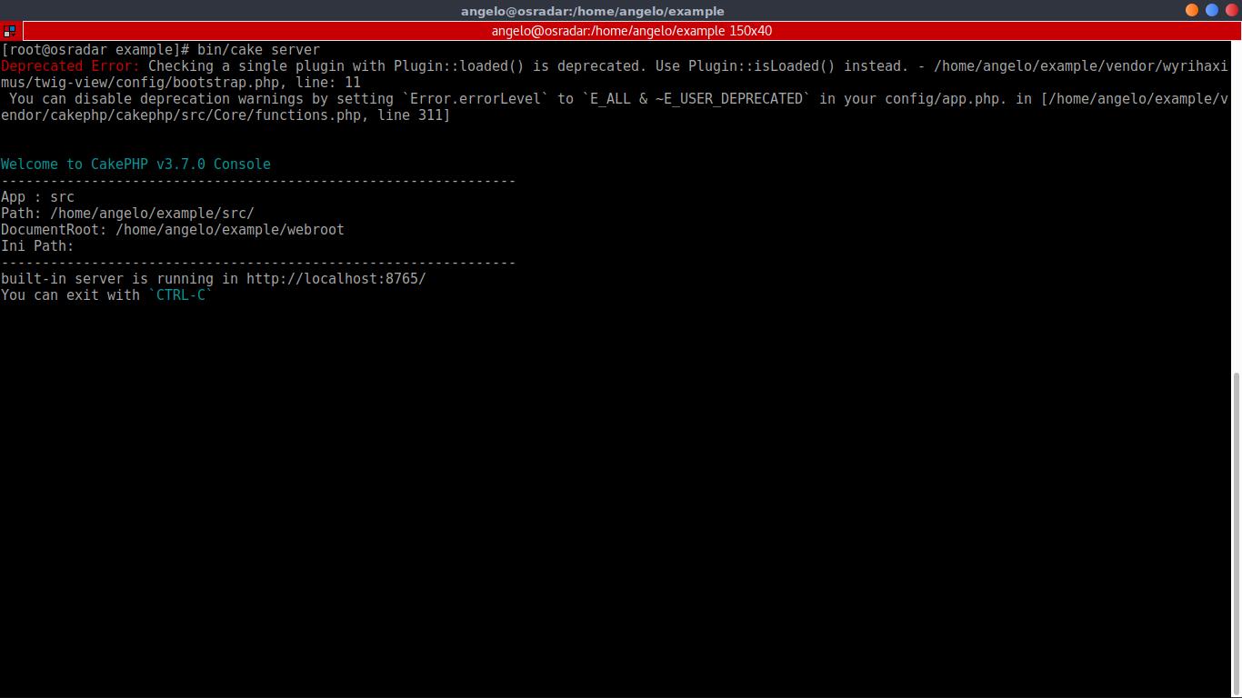 16.- Starting Cake PHP