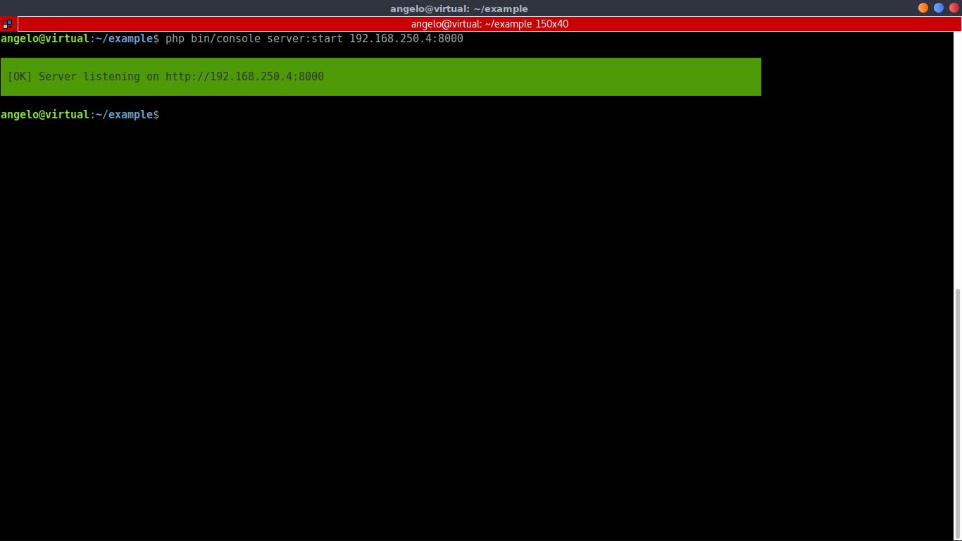 16.- Symfony running on a specific IP