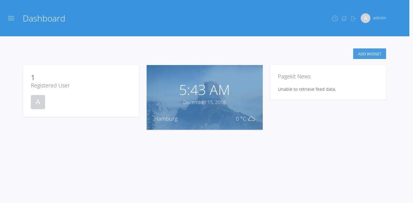 19.- PageKit Dashboard