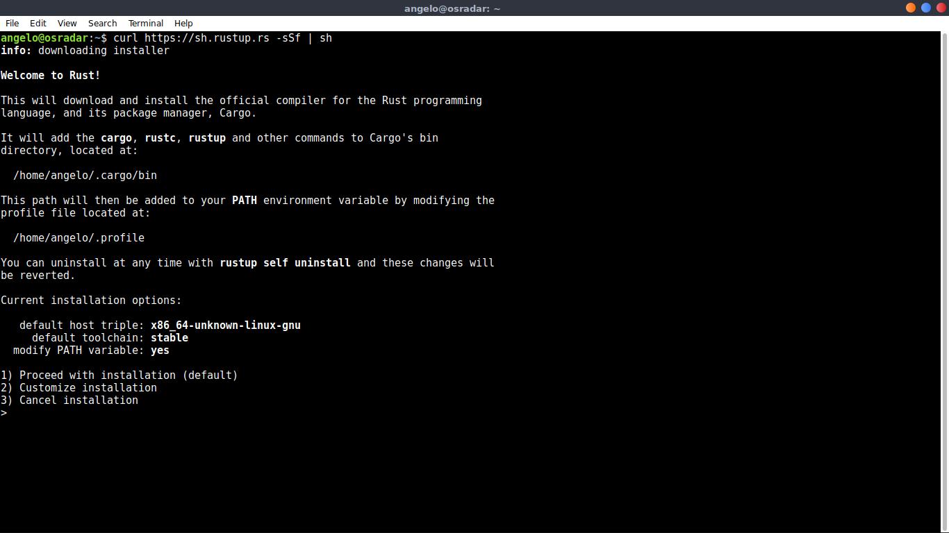 2.- Running the installation script