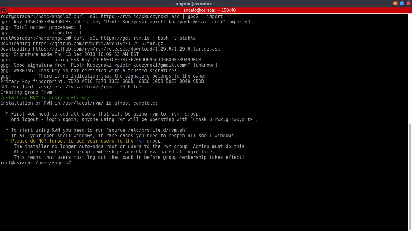 3.- Installing RVM