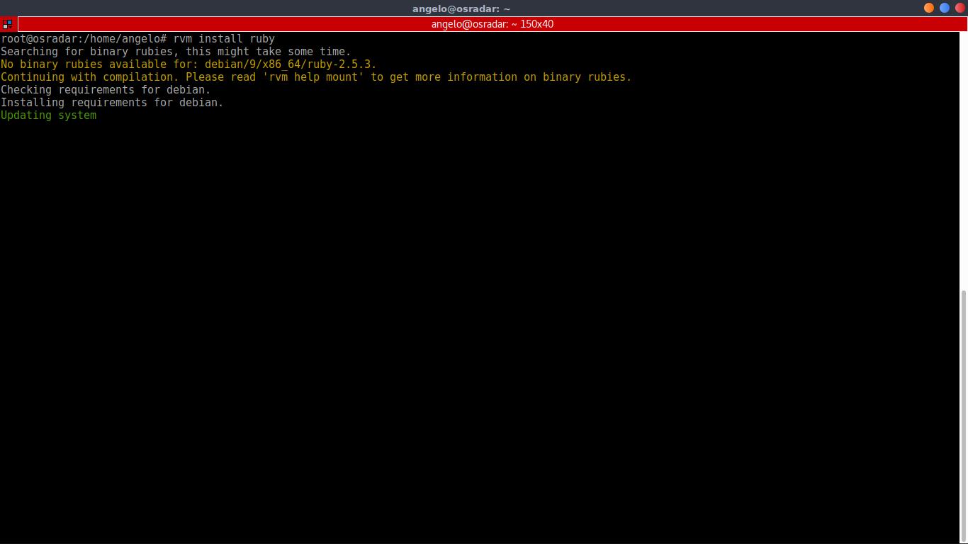 4.- Installing Ruby using RVM