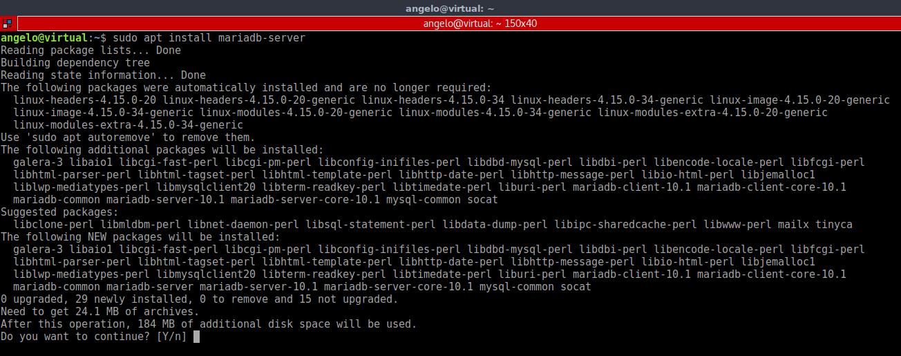4.- Install MariaDB