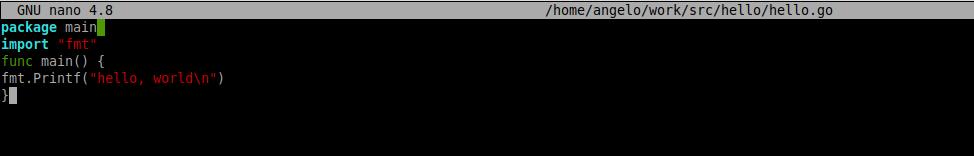 3.- Creating the hello world file