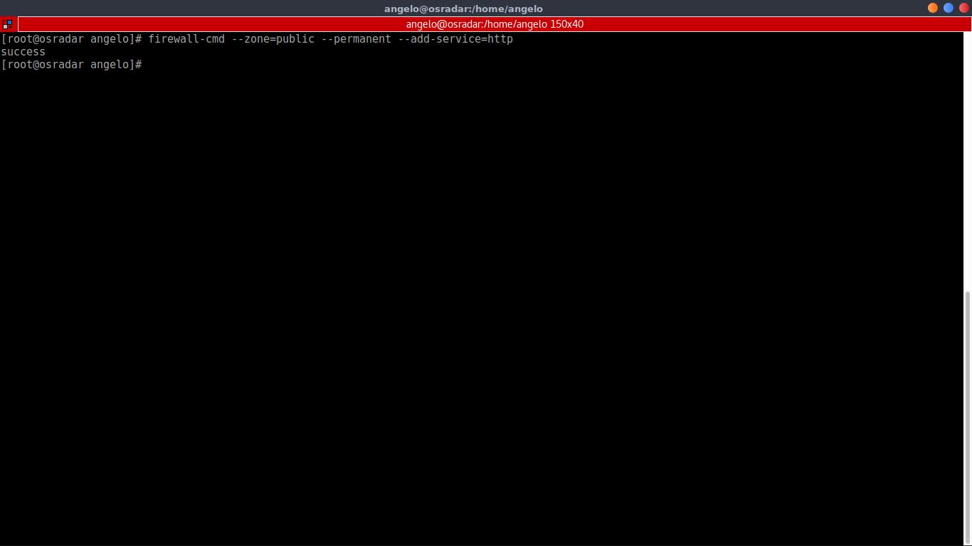 4.- Setting the firewall rule