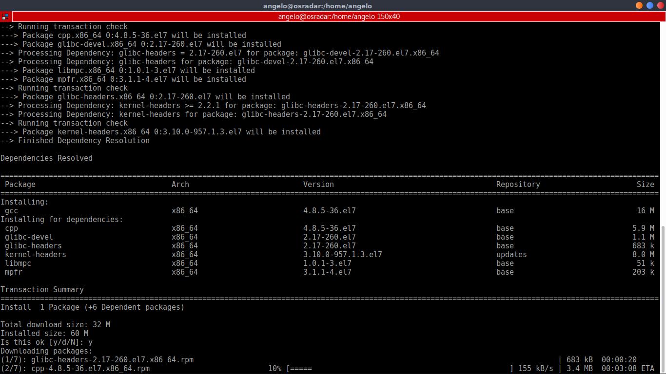 5.- install gcc