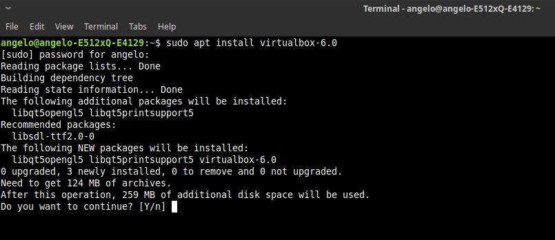 5.- Install Virtualbox 6