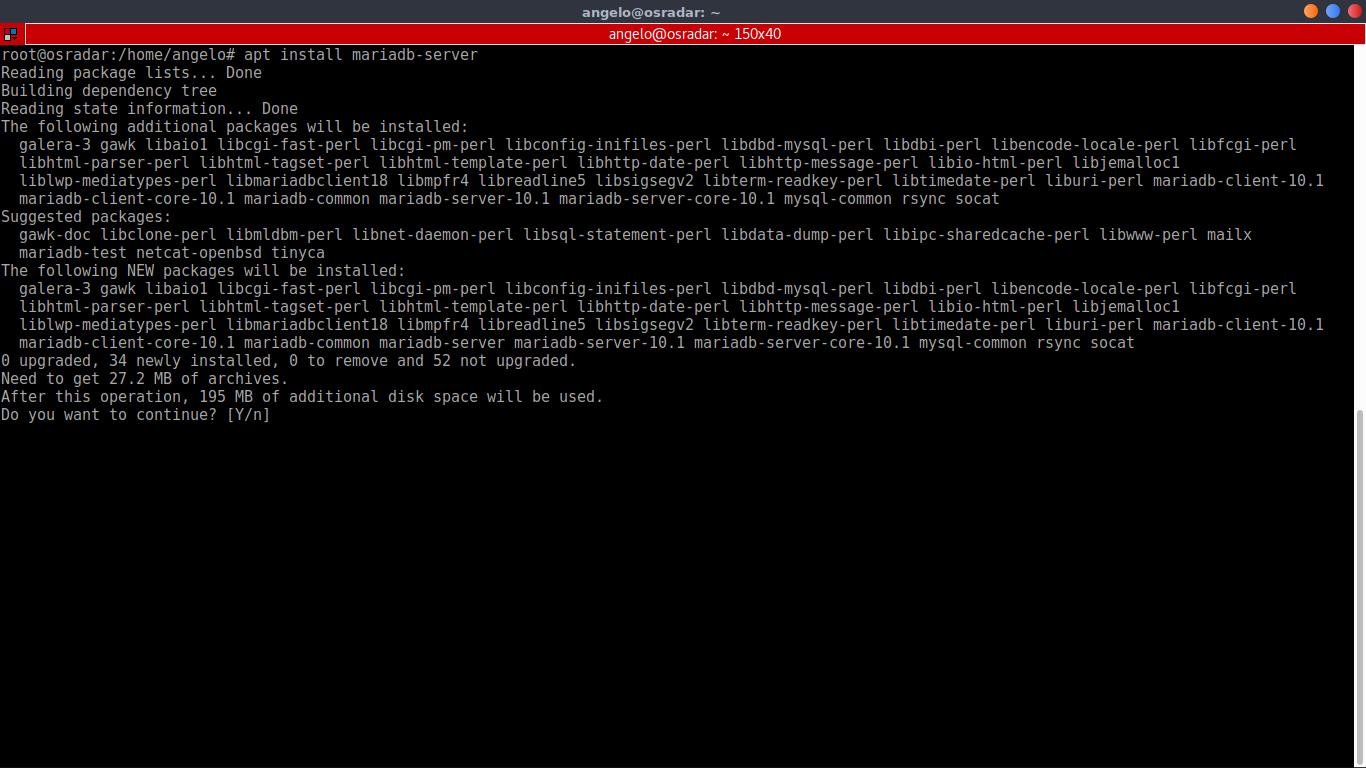 5.- Installing MariaDB