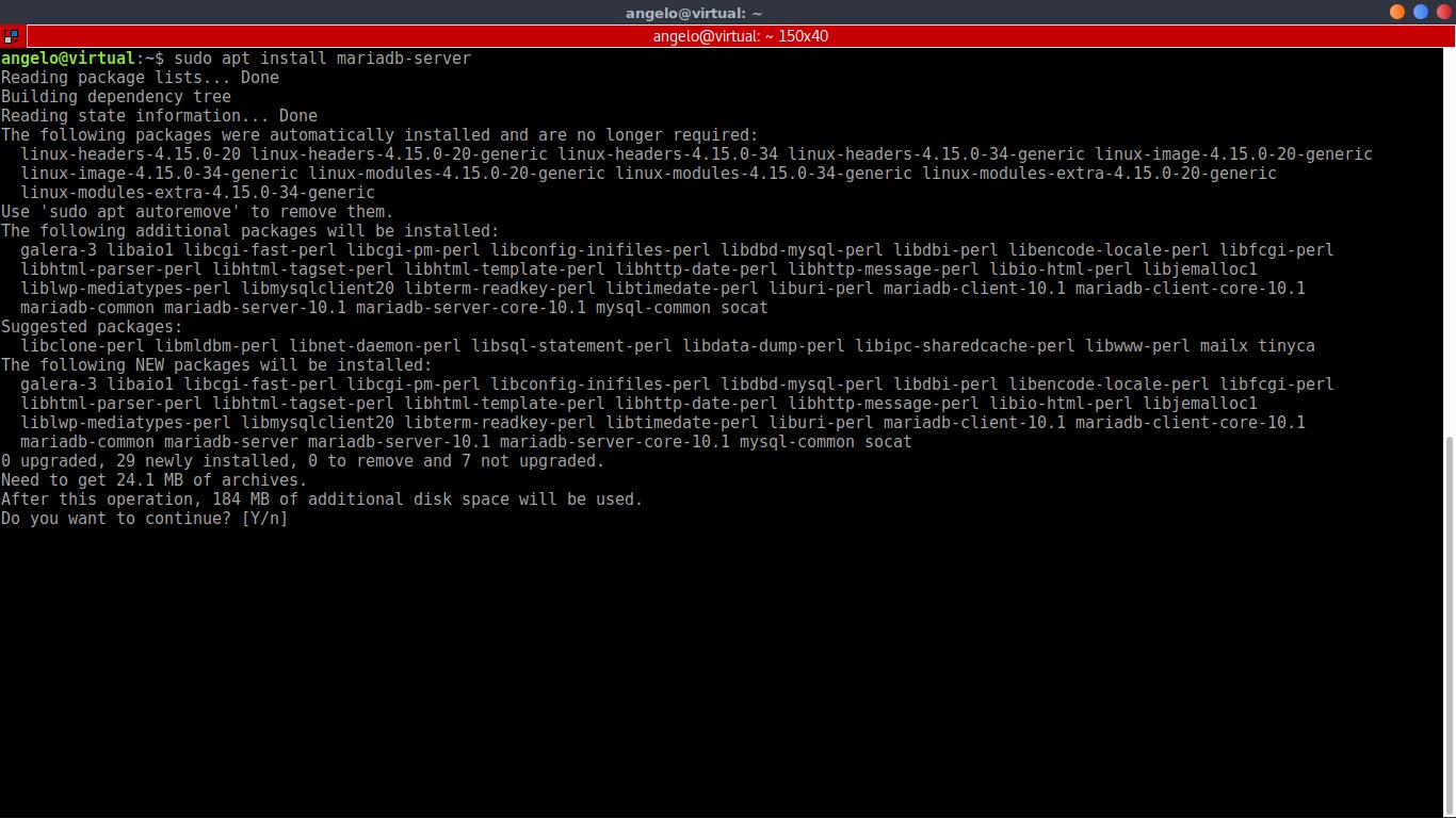 6.- Installing Mariadb-server