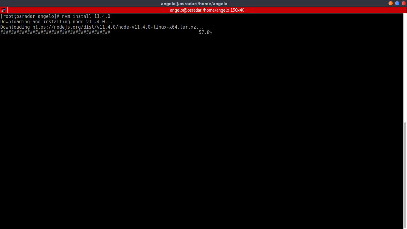 7.- Install NodeJS using NVM