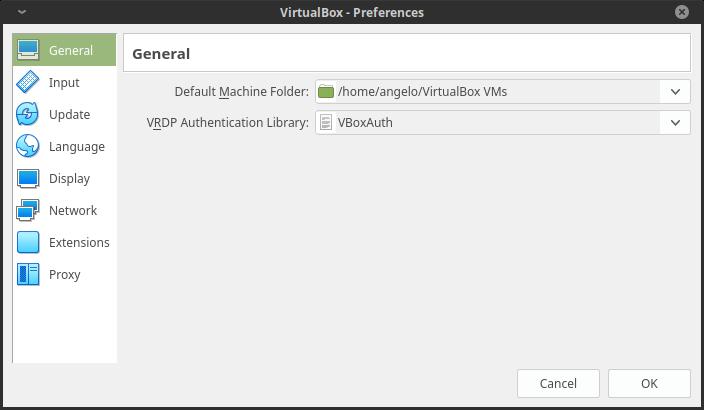 7.- Virtualbox preferences