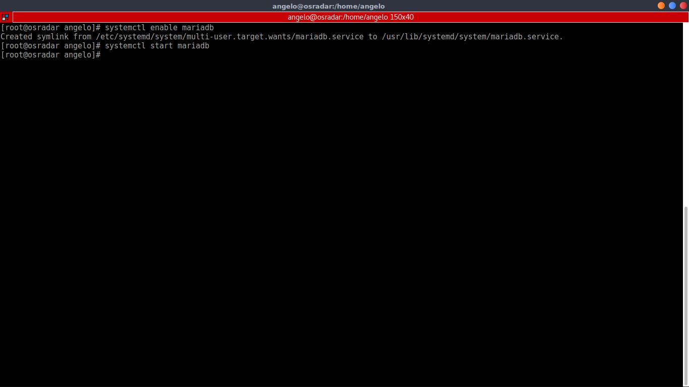 8.- Working with MariaDB service