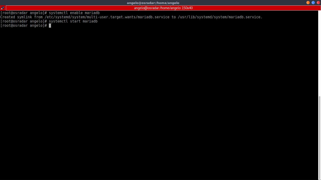 8.- Starting MariaDB