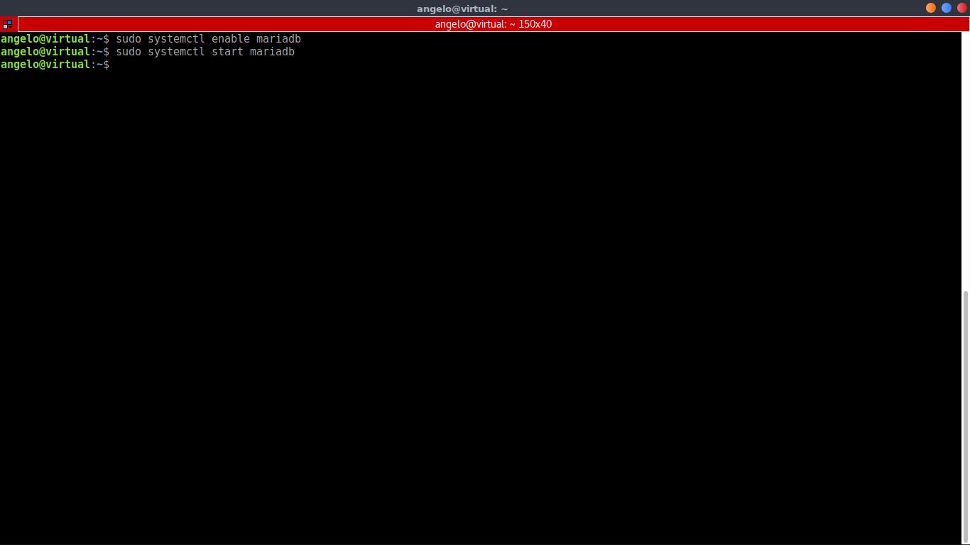 9.- Starting the MariaDB service