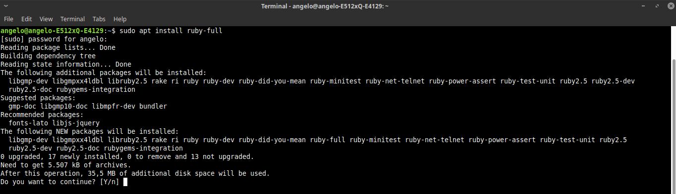 1.- Install Ruby