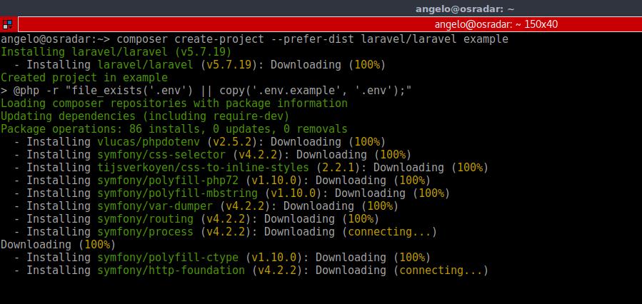 11.- Install Laravel PHP Framework