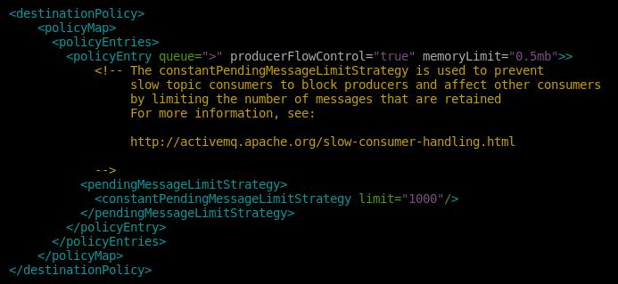 11.- Limit the messages