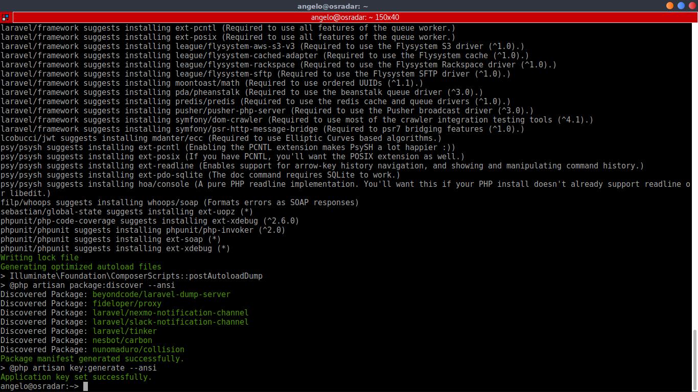 12.- Laravel is installed