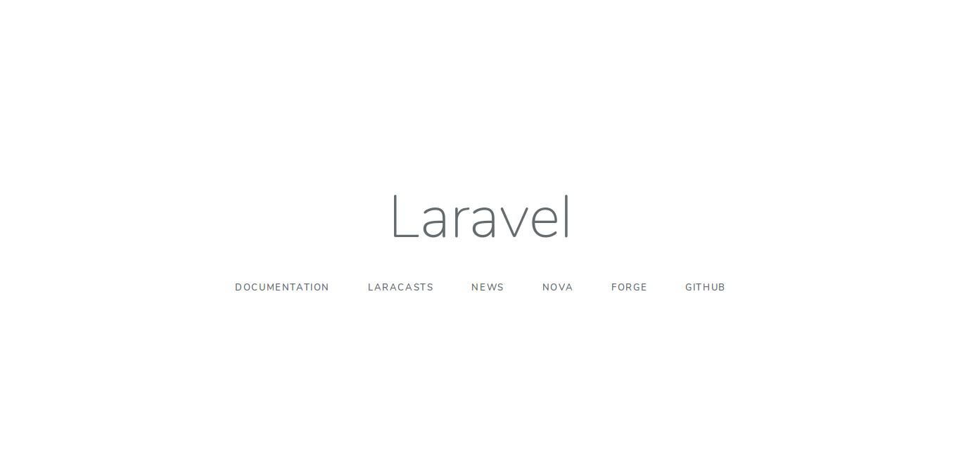14.- Laravel default page