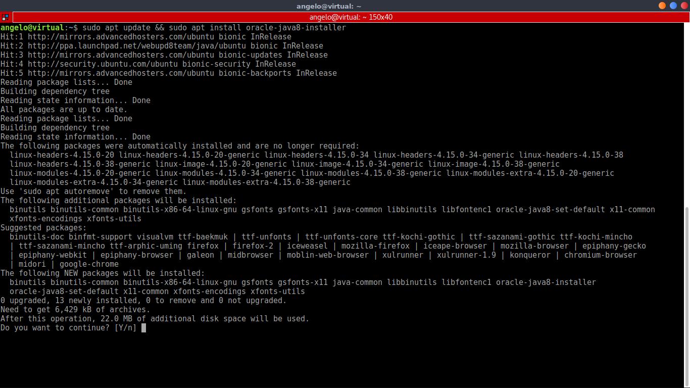 2.- Install Oracle Java