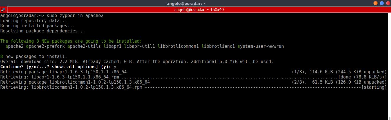 2.- Install Apache