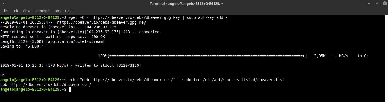 2.- Add the DBeaver repository