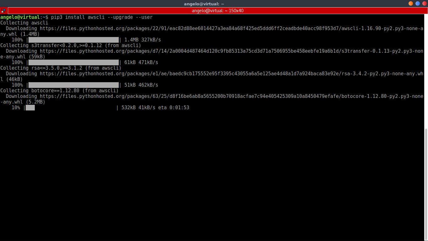 4.- Install AWS CLI