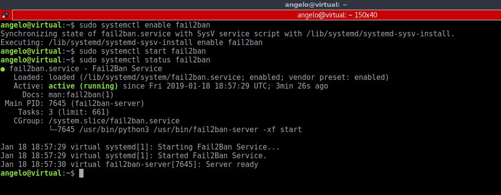 4.- Check the service status