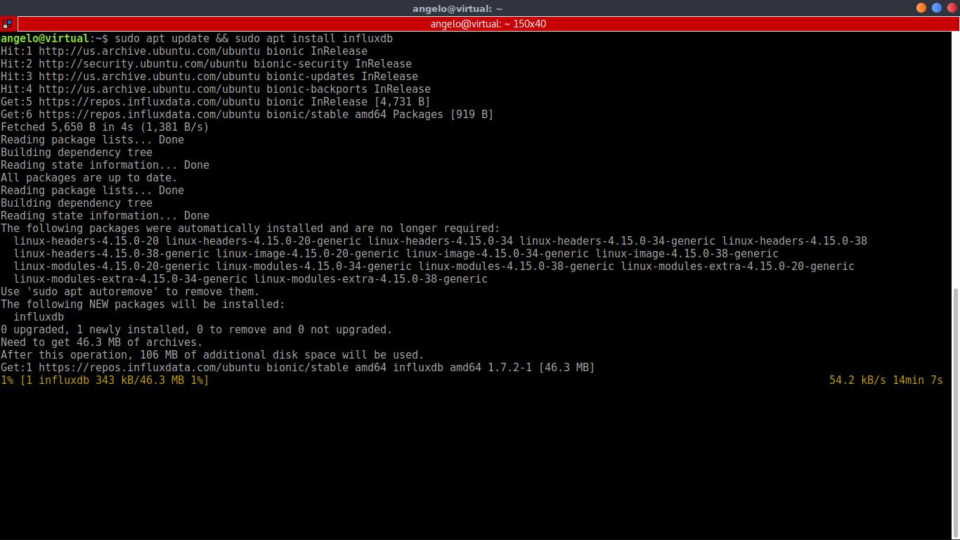 4.- Install InfluxDB
