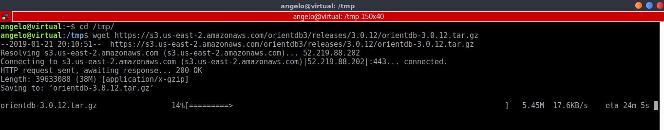 5.- Download OrientDB on Ubuntu 18.04