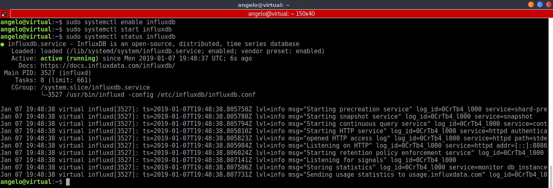 5.- Start the InfluxDB service