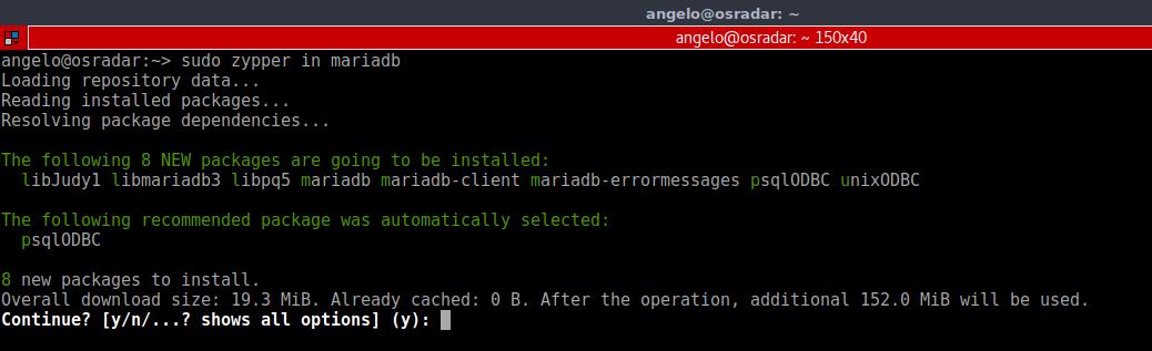 6.- Install MariaDB