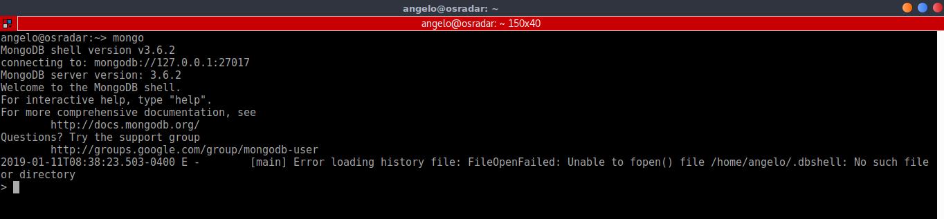 7.- MongoDB shell