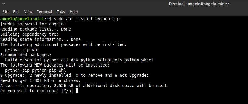 1.- Install python-pip