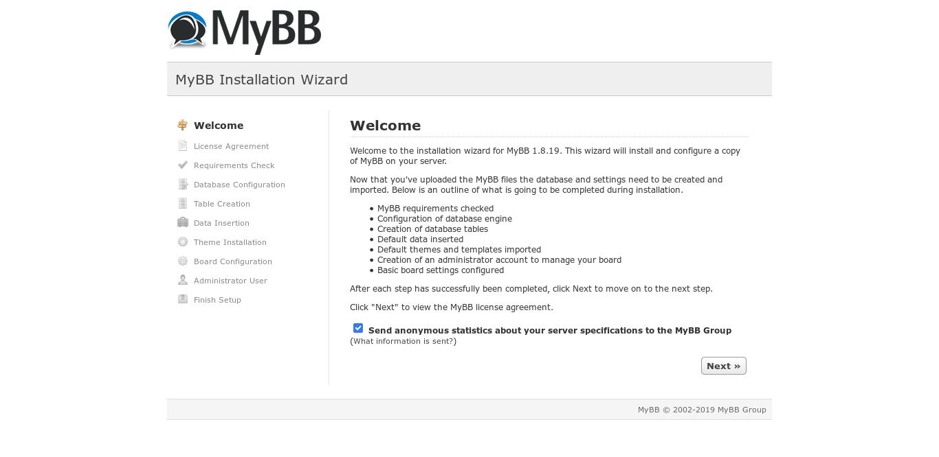 10.- Install MyBB on ubuntu