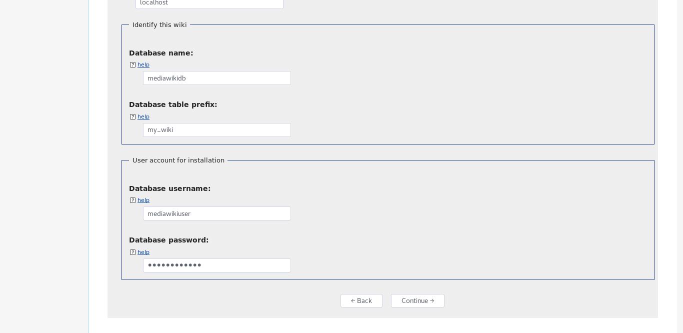 10.- Databases configuration