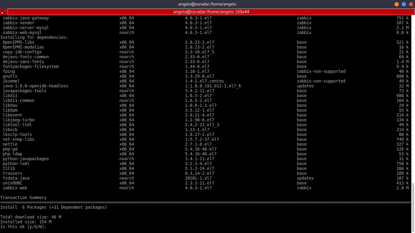 10.- Install Zabbix server 4