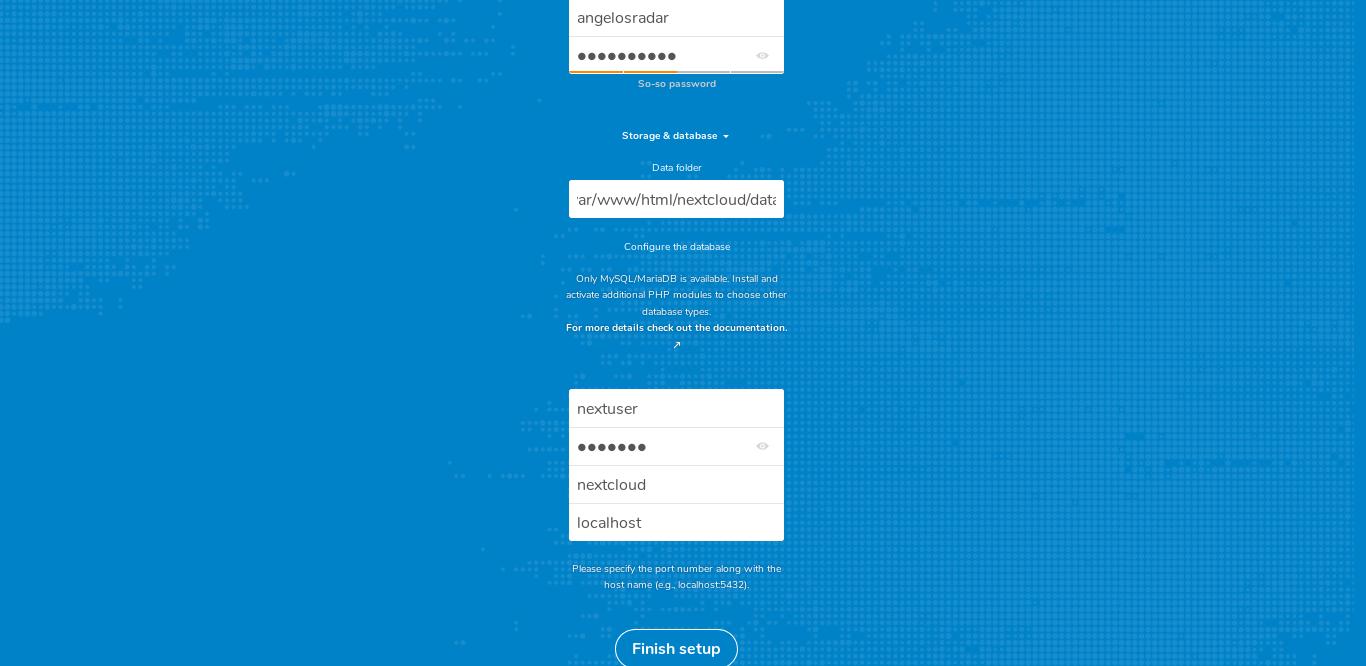 11.- Nextcloud web interface