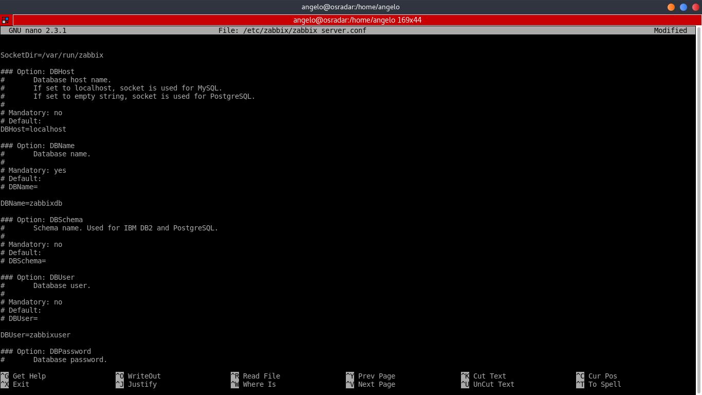 13.- configure Zabbix