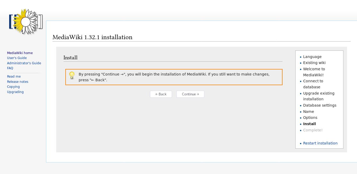 14.- Install MediaWiki