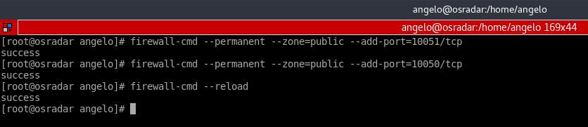 14.- Set the firewall rule for zabbix