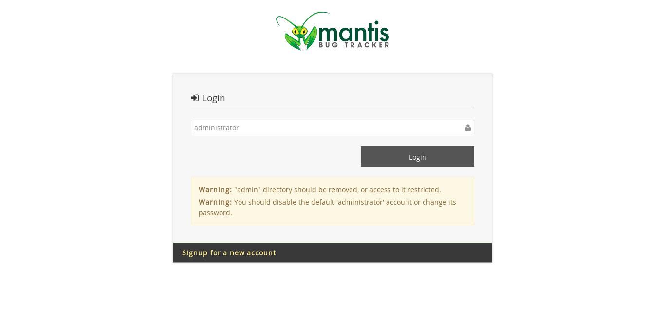 16.- Mantris Log in