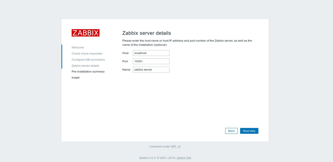 20.- Server details