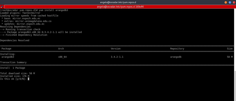3.- Install ArangoDB on CentOS