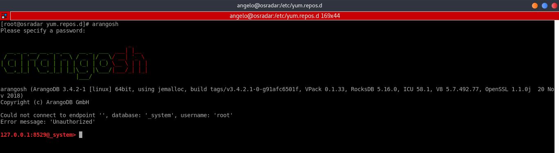 5.- ArangoDB shell