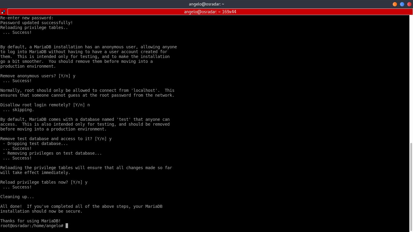 5.- Mysql_secure_installation