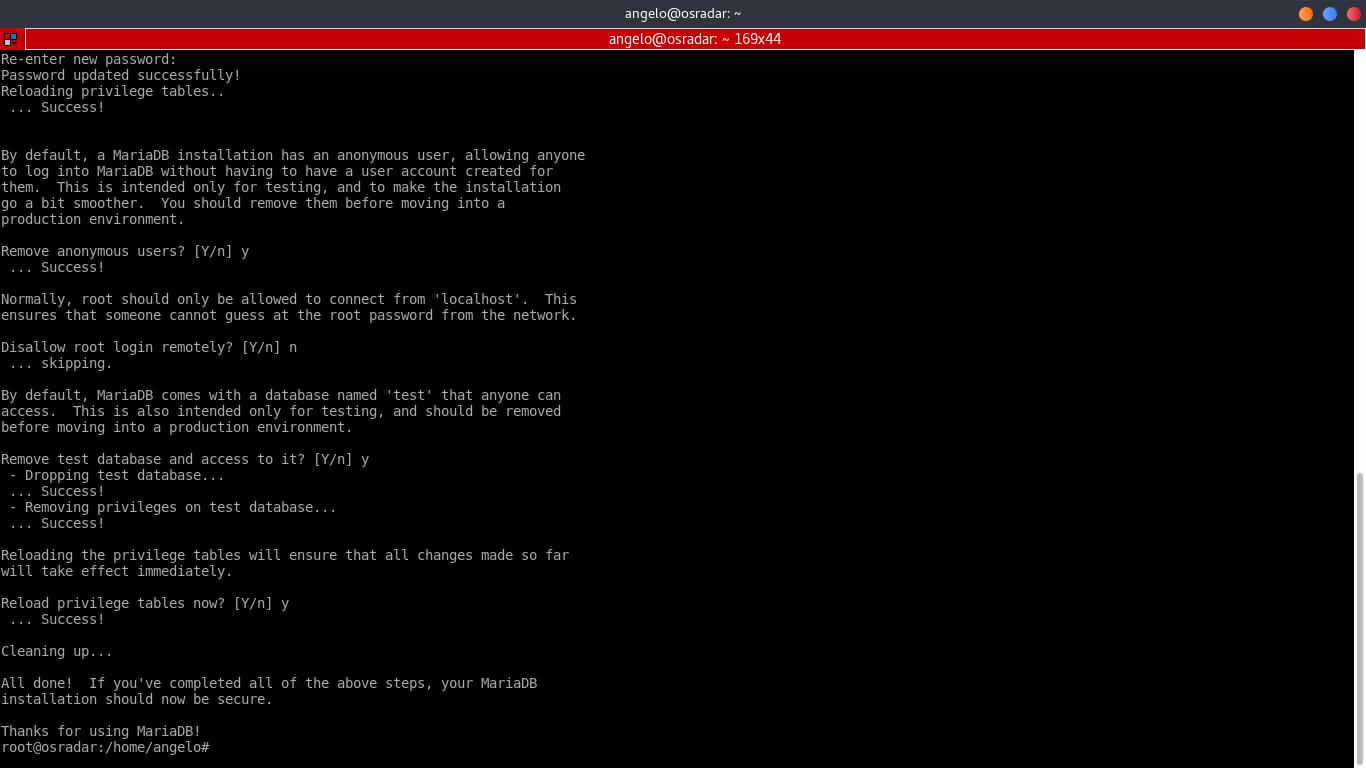 6.- mysql_secure_installation