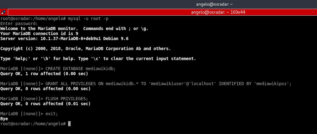 6.- MariaDB database