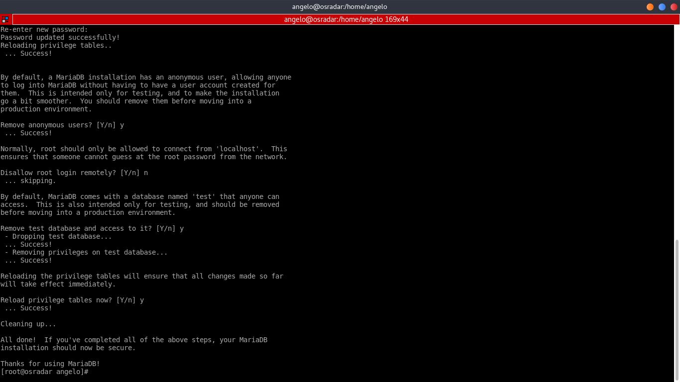 8.- Using mysql_secure_installation