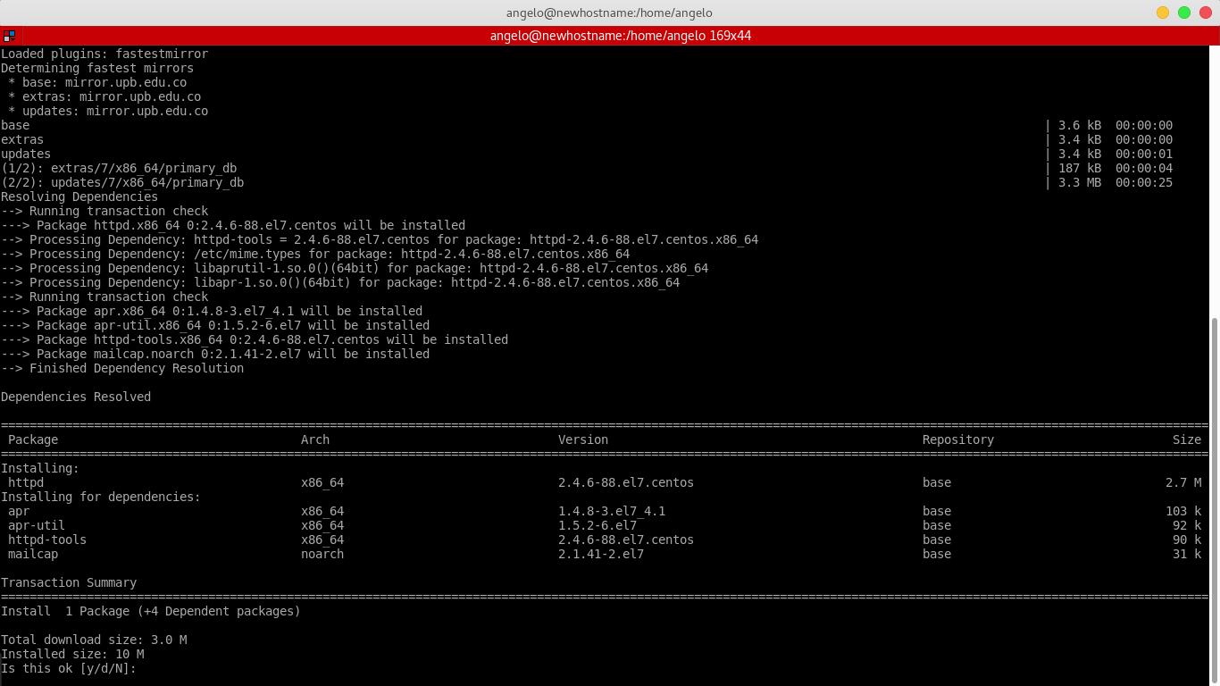 1.- Install Apache
